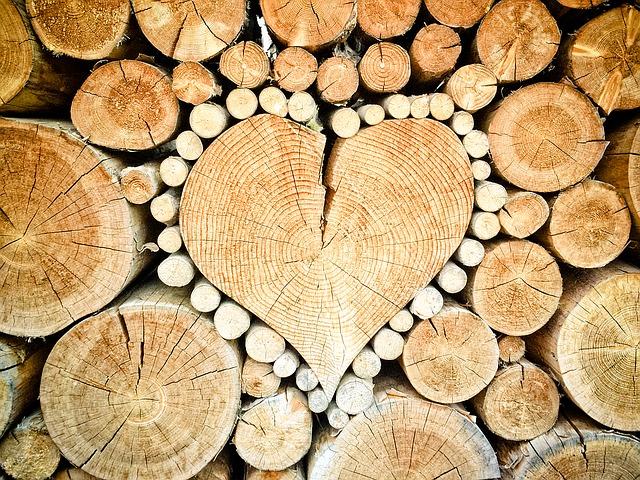 Herz aus Rundholz